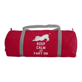 Keep Calm and Fart On with the cute French Bulldog Gym Bag