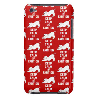 Keep Calm and Fart On with the cute French Bulldog iPod Touch Case