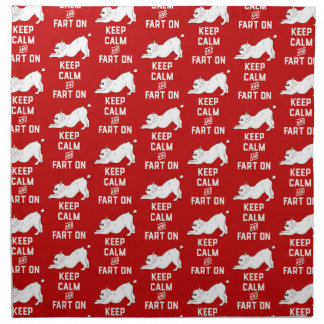 Keep Calm and Fart On with the cute French Bulldog Napkin