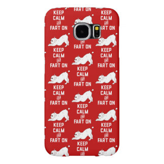 Keep Calm and Fart On with the cute French Bulldog Samsung Galaxy S6 Cases