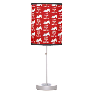 Keep Calm and Fart On with the cute French Bulldog Table Lamp