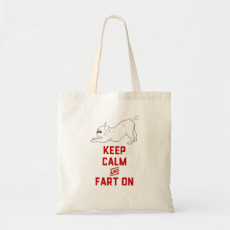 Keep Calm and Fart On with the cute French Bulldog Tote Bag