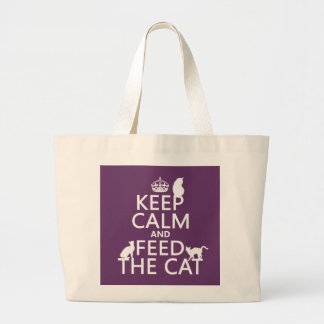 Keep Calm and Feed The Cat Canvas Bags