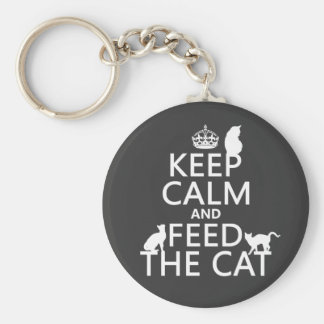 Keep Calm and Feed The Cat Keychain