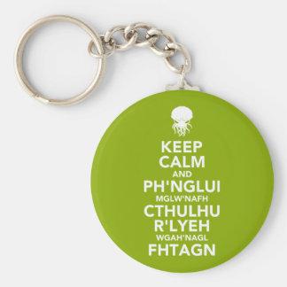 Keep Calm and Fhtagn Keychain