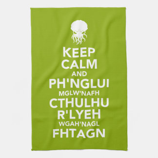 Keep Calm and Fhtagn Kitchen Towel