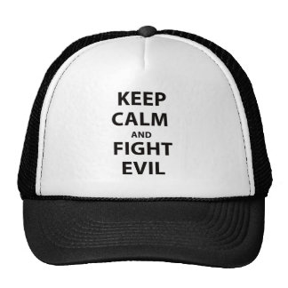 Keep Calm and Fight Evil Mesh Hat