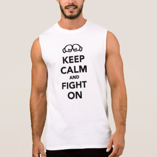 Keep calm and fight on Boxing Sleeveless Shirt