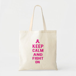 Keep Calm and Fight On Tote Bag