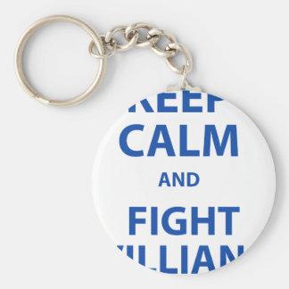 Keep Calm and Fight Villians Basic Round Button Keychain