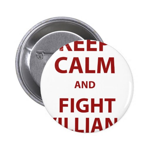 Keep Calm and Fight Villians Button