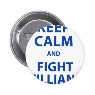 Keep Calm and Fight Villians Pin