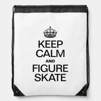 KEEP CALM AND FIGURE SKATE.ai Drawstring Bag