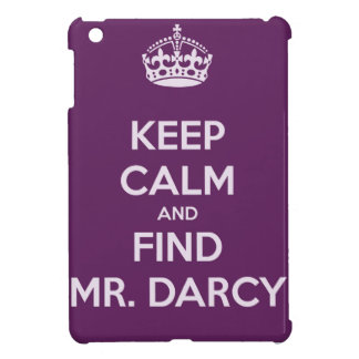 Keep Calm and Find Mr Darcy Jane Austen iPad Mini Cases