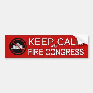 Keep Calm and Fire Congress Bumper Sticker