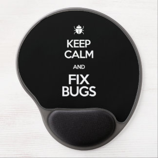 Keep calm and fix bug developer Debugging T-shirt Gel Mouse Pad