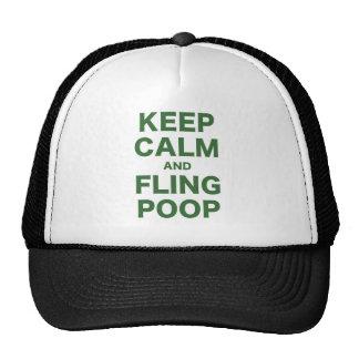 Keep Calm and Fling Poop Trucker Hat