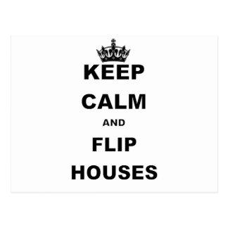 KEEP CALM AND FLIP HOUSES POSTCARD