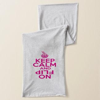 Keep Calm and Flip on Gymnastics Scarf