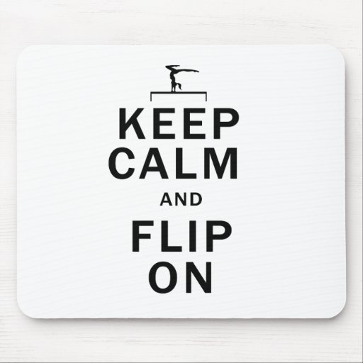 Keep-Calm-And-Flip-On Mouse Pads