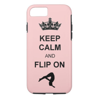 Keep Calm and Flip on Tumbling iPhone 7 Case