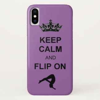 Keep Calm and Flip on Tumbling iPhone X Case