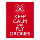 Keep Calm and Fly Drones Poster