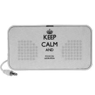 Keep Calm And Focus On Adoration iPhone Speaker