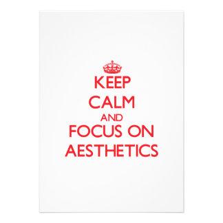 Keep calm and focus on AESTHETICS Announcements