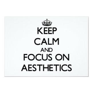 Keep Calm And Focus On Aesthetics Custom Announcements