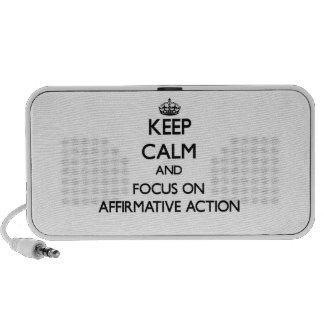 Keep Calm And Focus On Affirmative Action iPhone Speakers