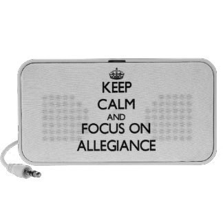 Keep Calm And Focus On Allegiance iPhone Speakers