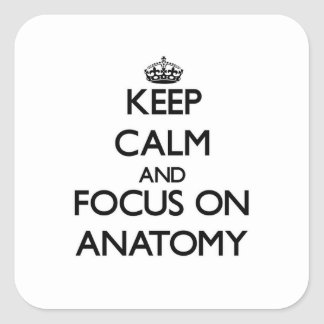 Keep Calm And Focus On Anatomy Square Sticker