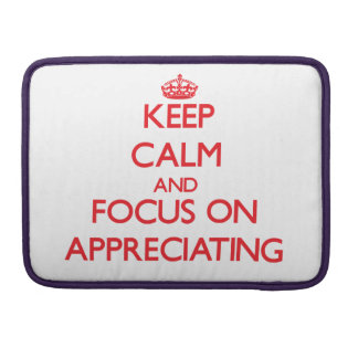 Keep calm and focus on APPRECIATING Sleeve For MacBooks