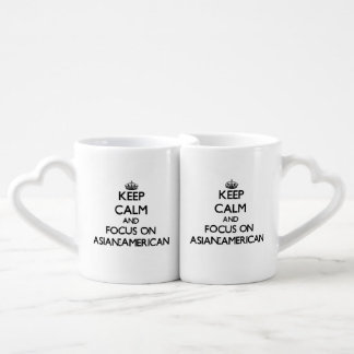 Keep Calm And Focus On Asian-American Couple Mugs
