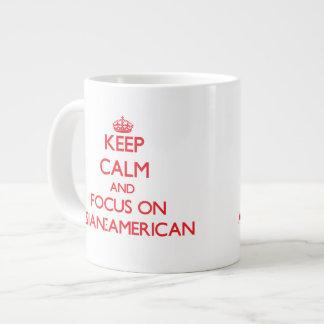 Keep calm and focus on ASIAN-AMERICAN Jumbo Mug