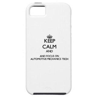 Keep calm and focus on Automotive Mechanics Tech iPhone 5/5S Covers