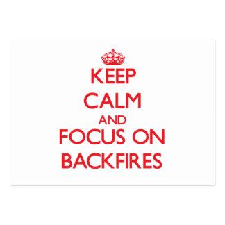 Keep Calm and focus on Backfires Business Cards