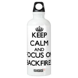 Keep Calm and focus on Backfires SIGG Traveler 0.6L Water Bottle