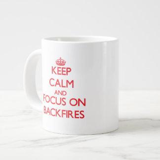 Keep Calm and focus on Backfires Jumbo Mug