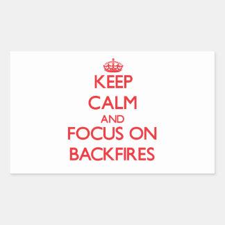 Keep Calm and focus on Backfires Rectangular Sticker