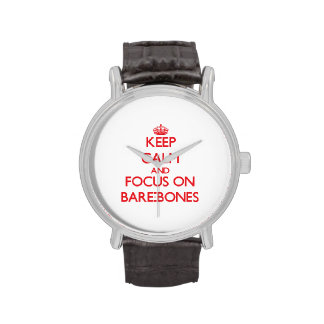 Keep Calm and focus on Bare-Bones Wristwatch
