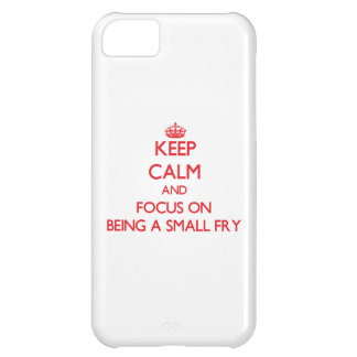 Keep Calm and focus on Being A Small Fry Case For iPhone 5C