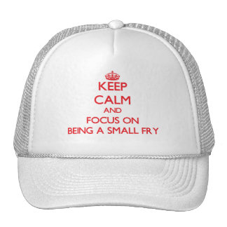 Keep Calm and focus on Being A Small Fry Hat