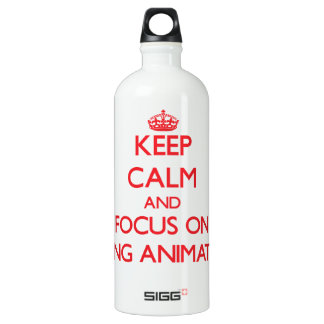 Keep calm and focus on BEING ANIMATED SIGG Traveler 1.0L Water Bottle