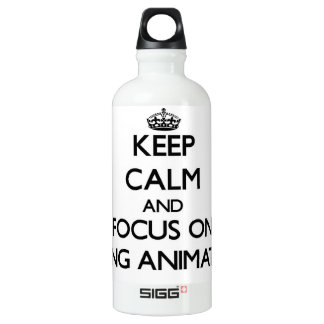 Keep Calm And Focus On Being Animated SIGG Traveler 0.6L Water Bottle