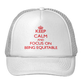 Keep Calm and focus on BEING EQUITABLE Mesh Hats