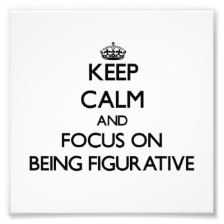 Keep Calm and focus on Being Figurative Photograph