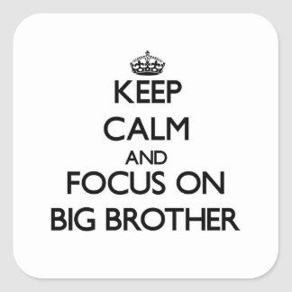 Keep Calm and focus on Big Brother Stickers