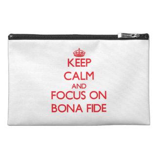 Keep Calm and focus on Bona Fide Travel Accessory Bags